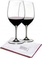 Riedel Vinum Cabernet-Merlot wijnglas met gratis poleerdoek (set van 2 glazen)