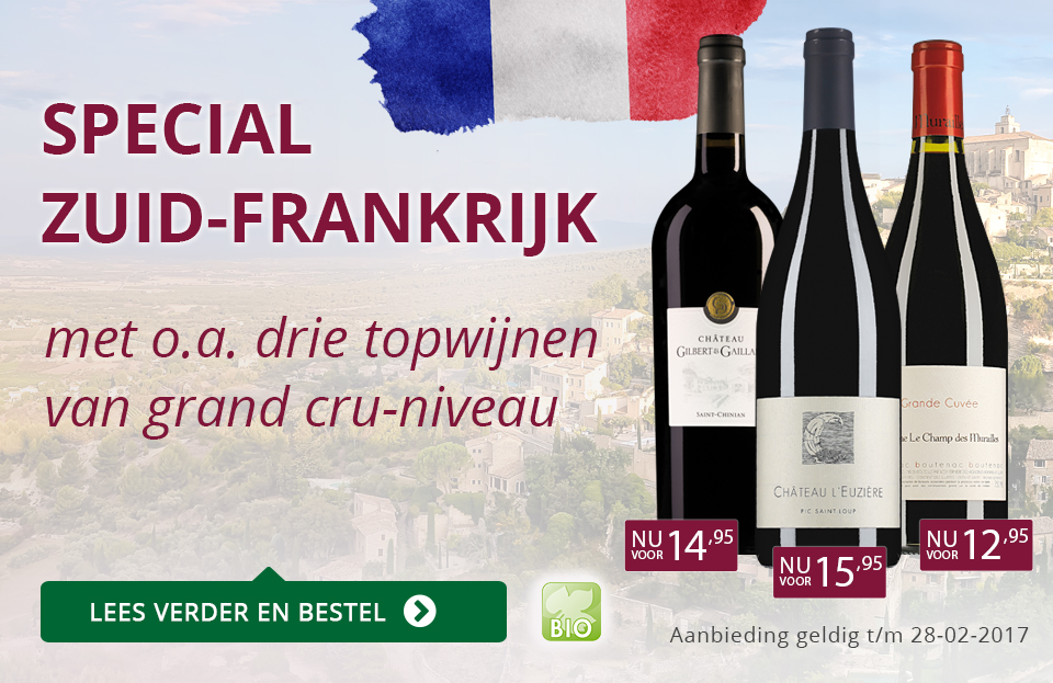 Special Zuid-Frankrijk met 3 topwijnen van Grand Cru-niveau - paars