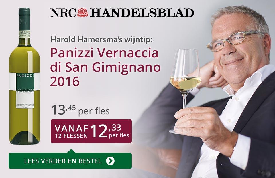 NRC Handelsblad: Panizzi Vernaccia di San Gimignano - paars