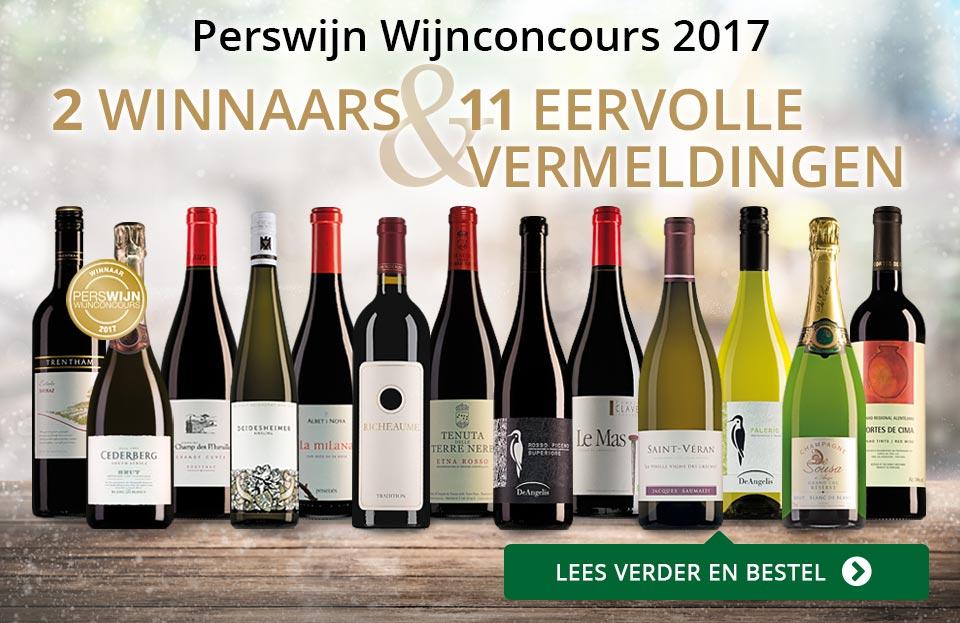 Perswijn Wijnconcours 2017 - goud/zwart