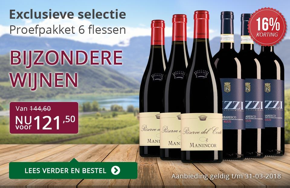 Proefpakket bijzondere wijnen maart 2018 (121,50) - paars