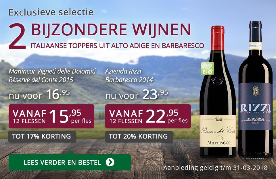 Exclusieve wijnen maart 2018 - paars