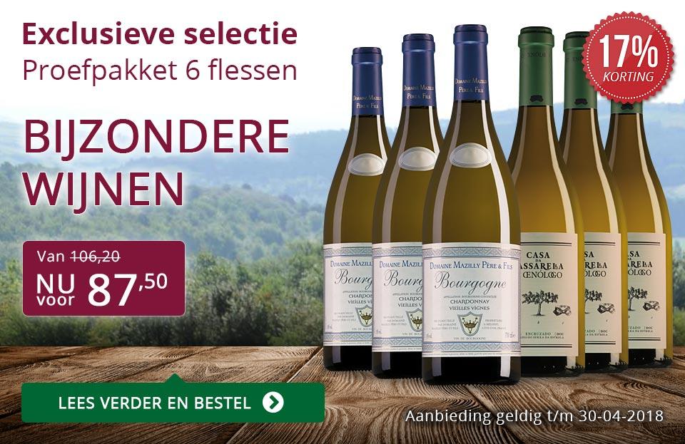 Proefpakket bijzondere wijnen april 2018 (87,50) - paars