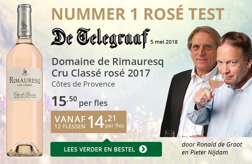 Dia Nr 1 Telegraaf rosé test - Rimauresq Cru Classé 2017 - grijs/goud