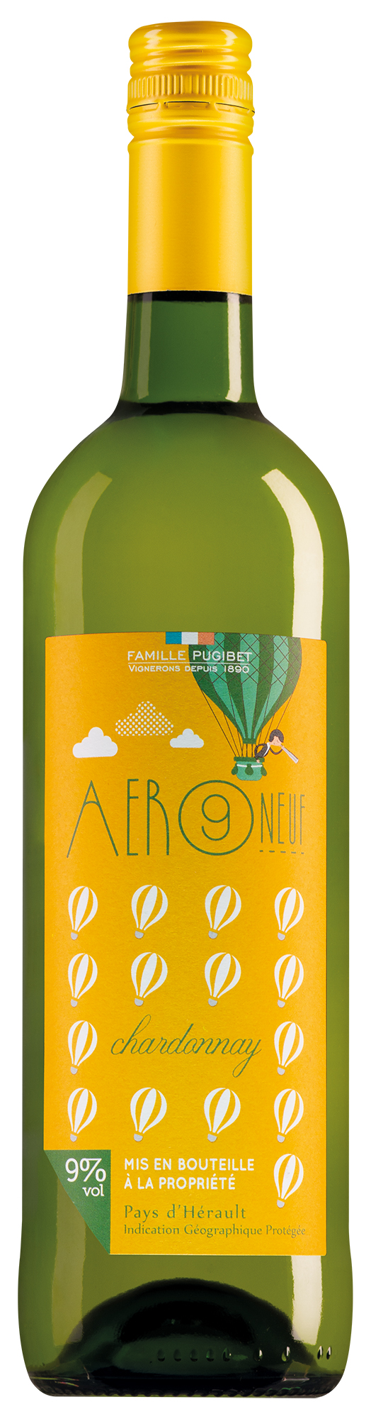 Famille Pugibet Pays'd'Hérault Aer Neuf Chardonnay