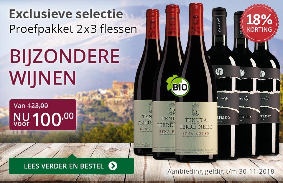 Proefpakket bijzondere wijnen november 2018 (100,00) - paars