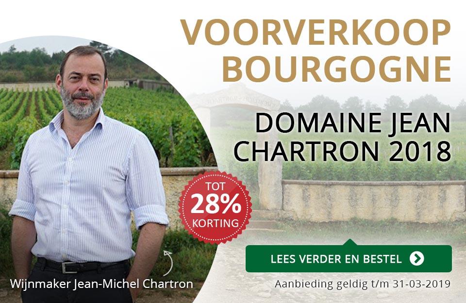 Voorverkoop Bourgogne: Domaine Jean Chartron 2018 - goud/zwart