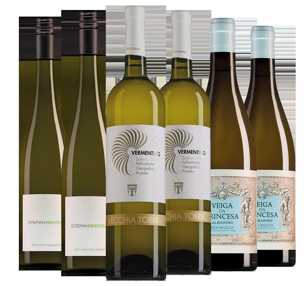 Wijnpakket Aspergewijnen (3x2 flesssen)