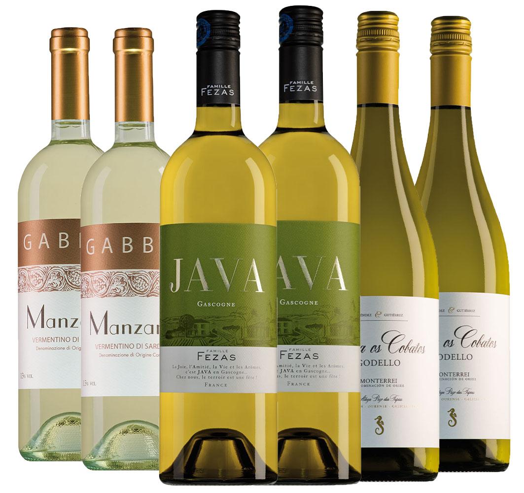 Wijnpakket mosselwijnen (3x2 flessen)