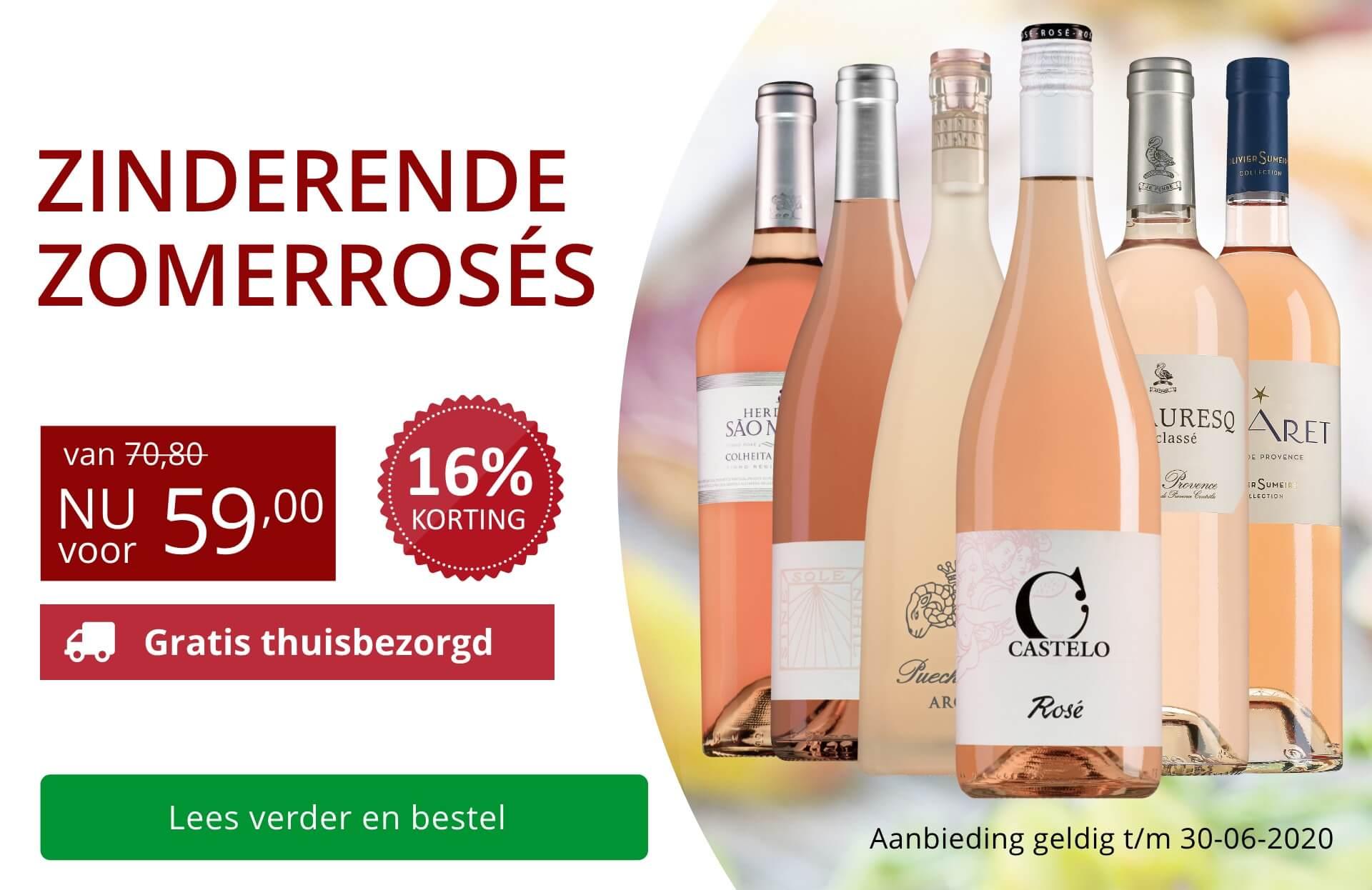 Wijnpakket Rosé (59,00) - rood