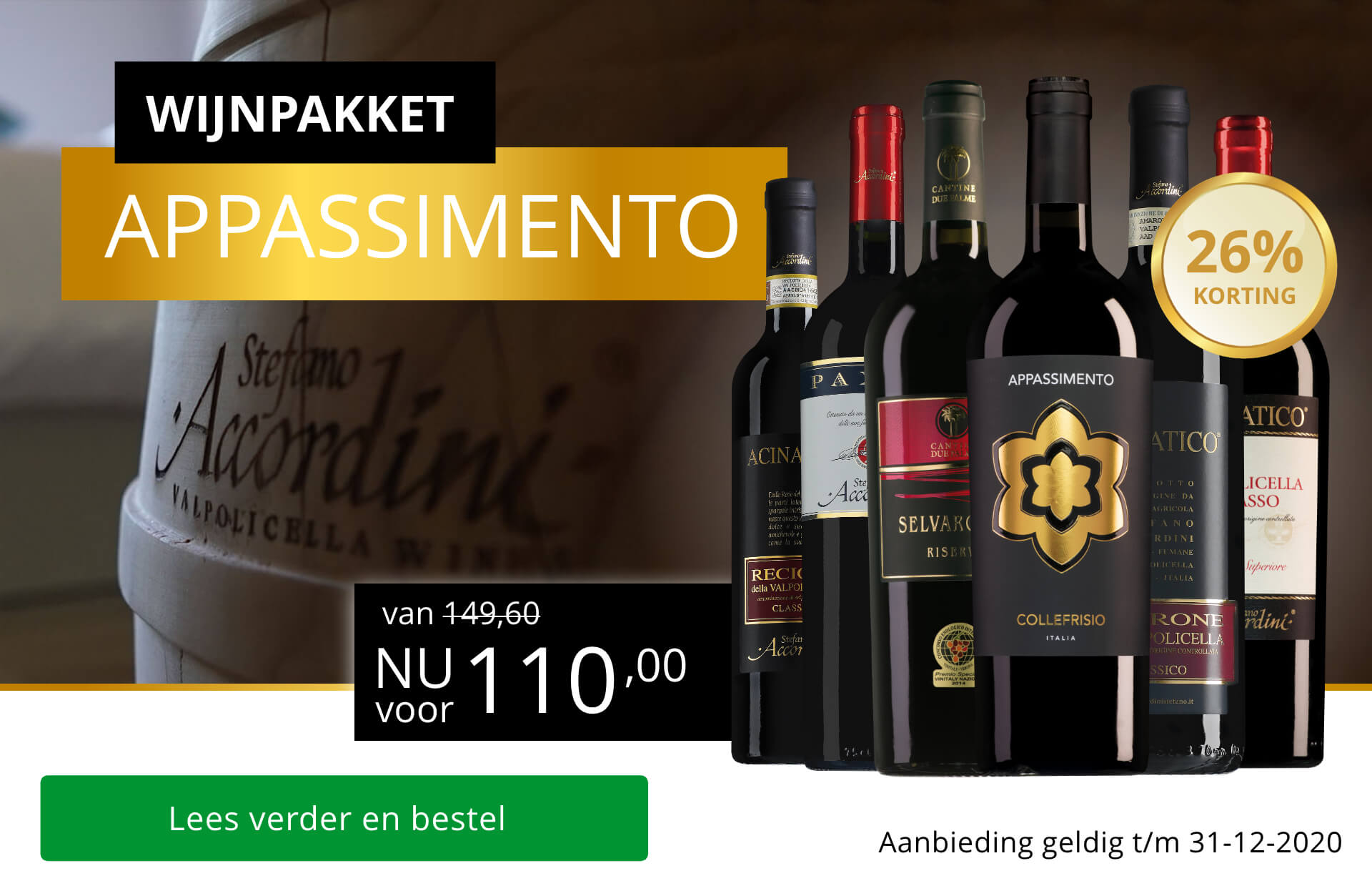 Ultieme decemberwijnen in het appassimento-wijnpakket