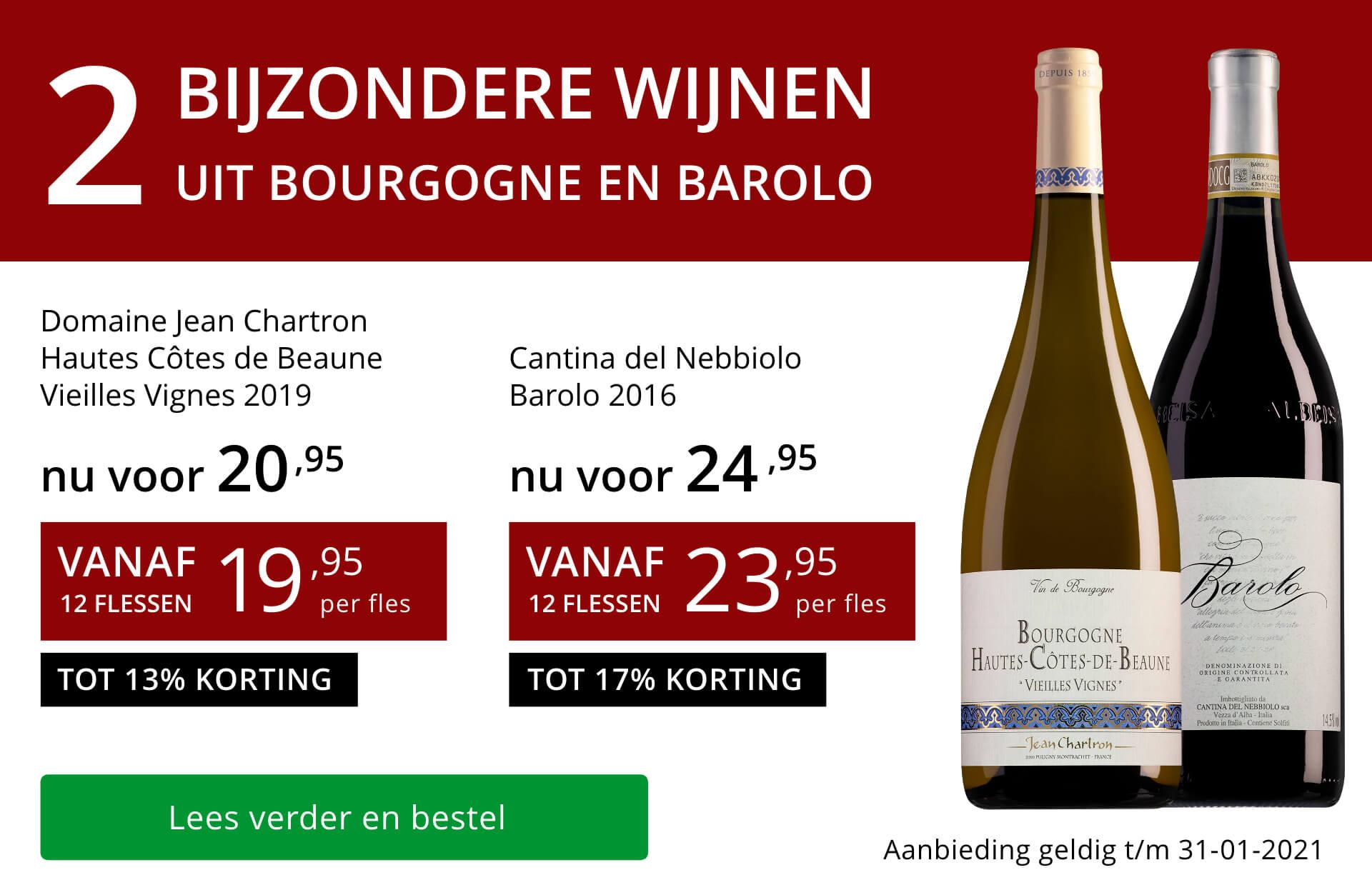 Twee bijzondere wijnen januari 2021 - rood