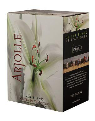 L'Arjolle Côtes de Thongue wit BIB 5 liter