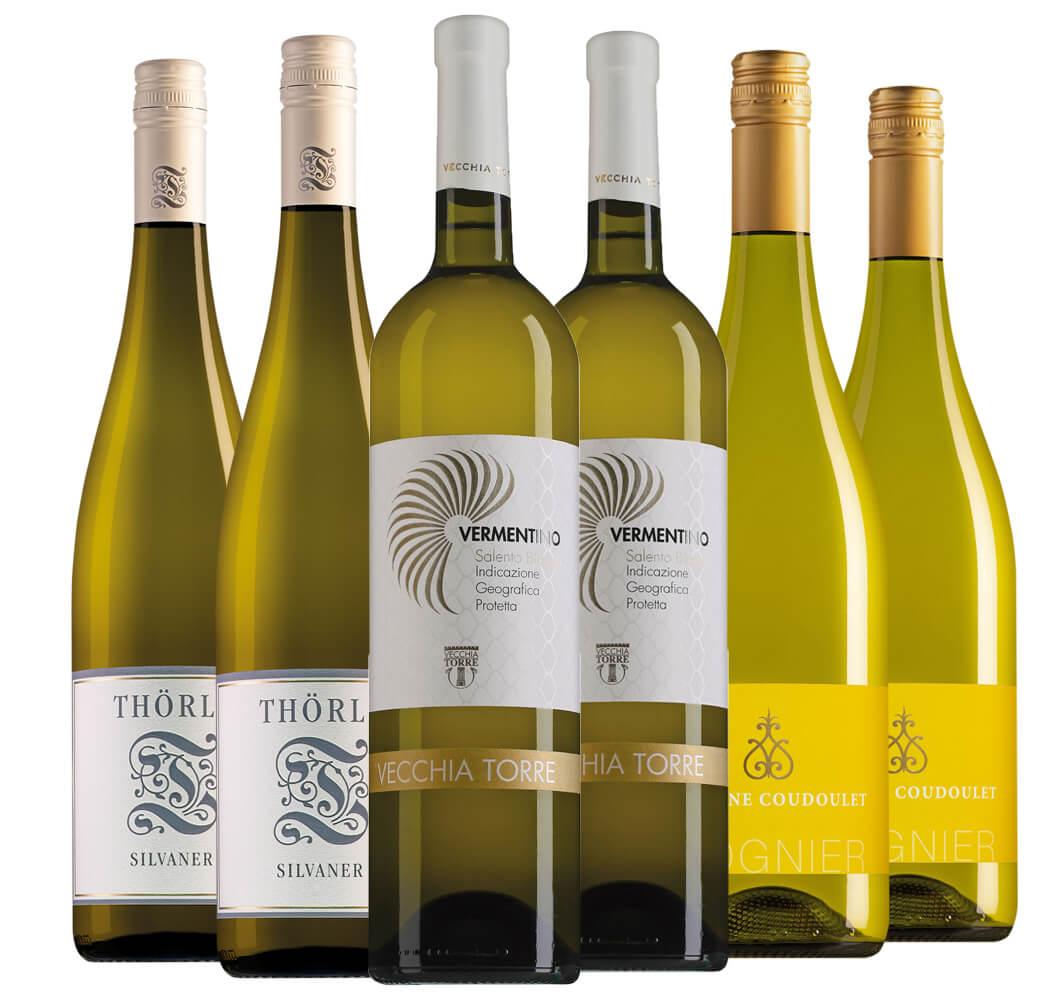 Wijnpakket aspergewijnen (3x2 flessen)