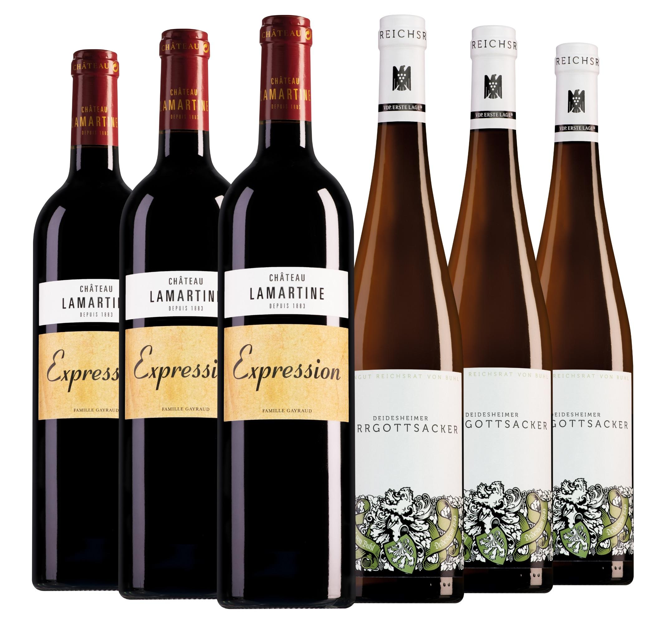 Wijnpakket bijzondere wijnen mei (2x3 flessen)