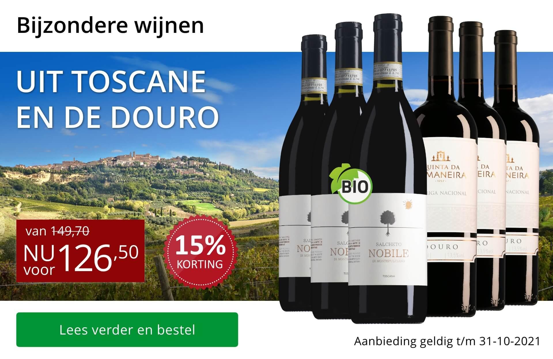 Wijnpakket bijzondere wijnen oktober 2021 - rood